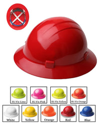 (12/CASE) Americana Full Brim Hard Hat - Mega Ratchet Adjustment