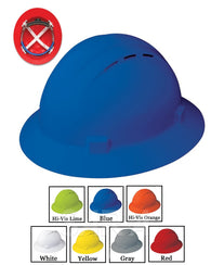(12/CASE) Americana Full Brim Vent Hard Hat - Mega Ratchet Adjustment