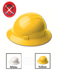 (12/CASE) Americana Heat Hard Hat - Mega Ratchet Adjustment with 4 Point Nylon Suspension