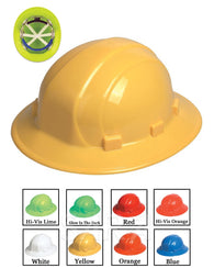 (12/CASE) Omega II Full Brim Hard Hat - Mega Ratchet Adjustment