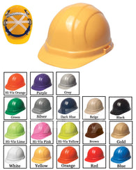 (12/CASE) Omega II Hard Hat - Slide Lock Adjustment with 6 Point Nylon Suspension