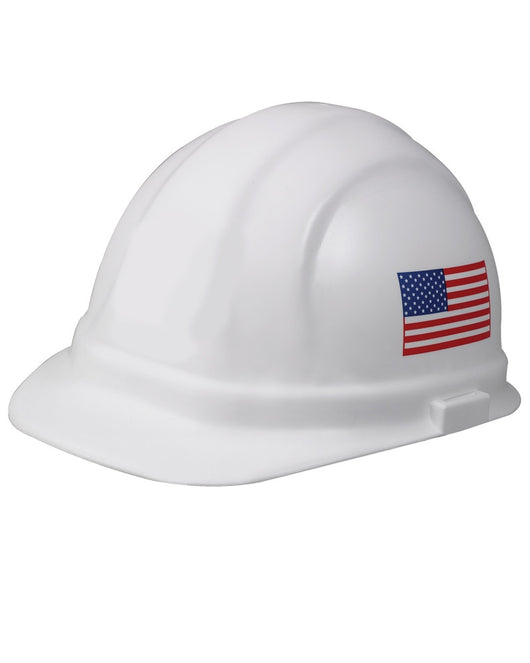 (12/CASE) Omega II Hard Hat - Slide Lock Adjustment with 6 Point Nylon Suspension - White Imprinted