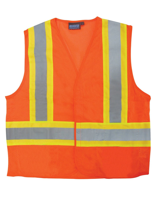 Class 2 Hi-viz Mesh Orange Vest - Hook & Loop