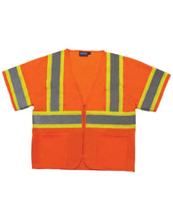 Class 3 Hi-viz Mesh Orange Vest with Zipper