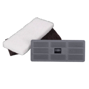 Gray Floor Pad Holder with 2 Pads