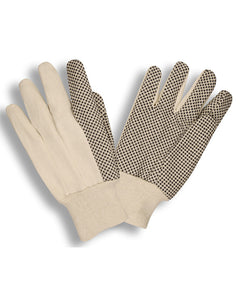 Cotton Canvas Work Gloves with Plastic Dots