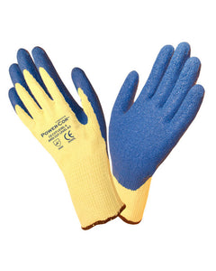 (12 Pairs) Power-Cor™ Kevlar Rubber Palm Coated Knit Gloves