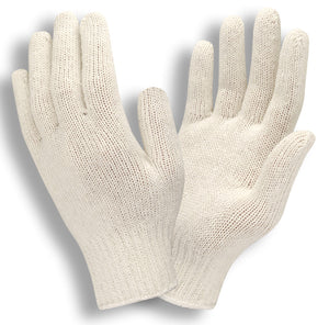 Medium Weight Natural Men's String Knit Gloves
