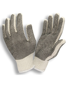 String Knit Gloves with Two Sided Plastic Dots