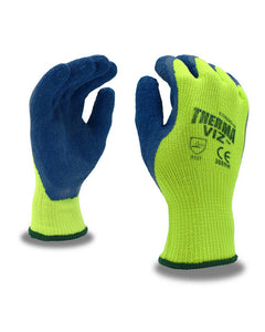 (12 pairs) Therma-Viz™ Insulated Hi-Viz Crinkle Latex Palm Coated Gloves