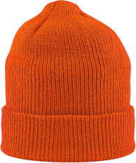 (12/Case) Safety High Visibility Orange Knit Cap Winter Hats