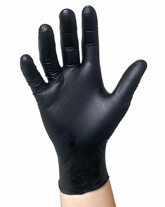 (20 Case/Quarter Pallet) Black Nitrile SemperForce Powder Free Exam Glove