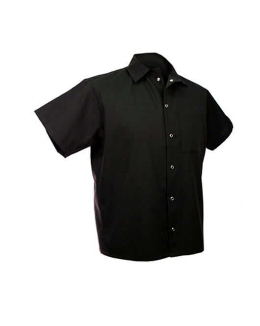 6 Button Cook Shirt - Black