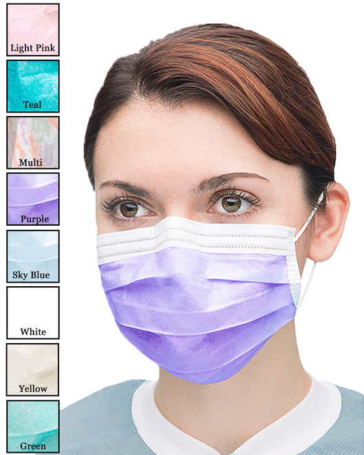 adhesive surgical mask