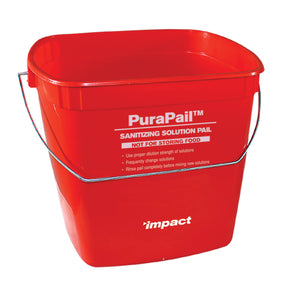 (12/Case) 3 qt. Utility Purapail Red