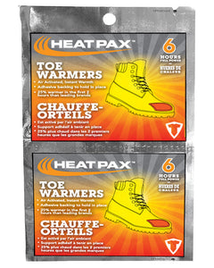 ($0.75 each - 240 Pairs) Heat Pax Adhesive Toe Warmers