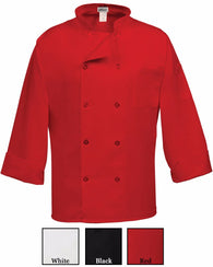 10 Button Long Sleeve Classic Chef Coat