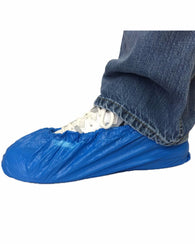 (100/Case) Blue Disposable Shoe & Boot Covers