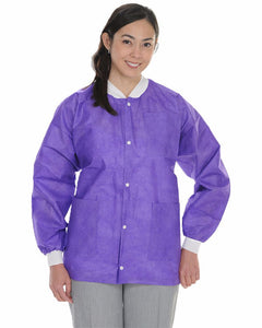 (10/Pack) Heavy Weight Disposable Lab Jackets - Purples