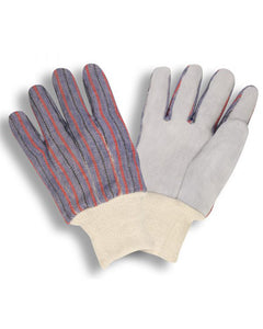 Leather Palm Knitwrist Gloves