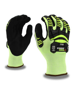 (Sold by the Pair) OGRE™ Cut-Resistant CRX Shell, Nitrile Palm Coating, TPR Glove ANSI Cut Level A3