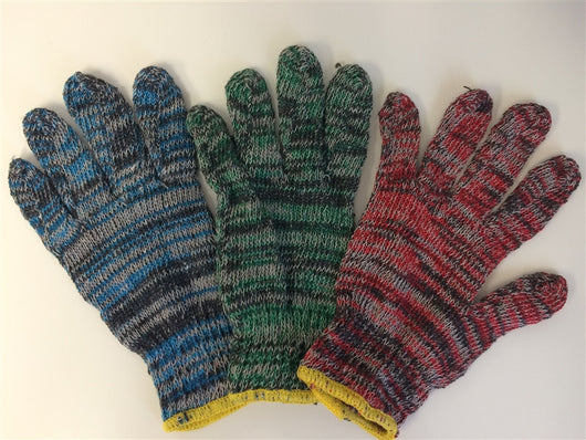 Multi-Color Light Weight String Knit Gloves