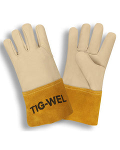 (12 Pairs) Tig-Wel™ Premium Cowhide Side Split Welding Gloves
