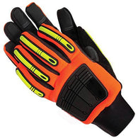 High Vis Impact Protection Mechanics Gloves
