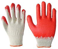 Red Latex Palm Coated Gloves