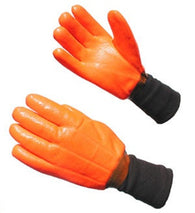 Hi Vis Orange Insulated Double Dipped PVC Knitwrist Winter Work Gloves