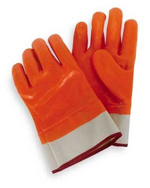 Hi VIs Orange Insulated Double Dipped PVC Safety Cuff Gloves