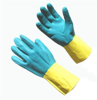 Blue Neoprene over Latex 28 Mil Chemical Handling Gloves