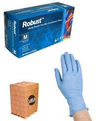 (20 Case/Quarter Pallet) Aurelia Robust Nitrile Powder Free 5Mil Blue Exam Gloves