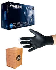 (70 Case/Full Pallet) Black Nitrile SemperForce Powder Free Exam Glove