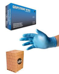 (70 Case/Full Pallet) Gripstrong Nitrile 4mil Powder Free Disposable Gloves
