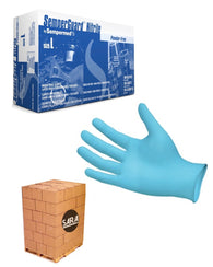 (70 Case/Full Pallet) SemperGuard Blue Nitrile Powder Free 5 Mil Disposable Gloves