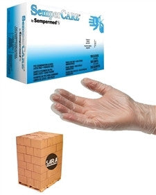 (70 Case/Full Pallet) Vinyl 4.2 mil Powder Free SemperCare Disposable Gloves