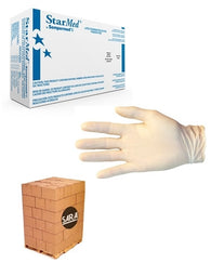 (20 Case/Quarter Pallet) Latex 5mil Powder Free StarMed Disposable Gloves