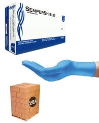 (70 Case/Full Pallet) Nitrile 6 mil Powder Free SemperShield Disposable Gloves