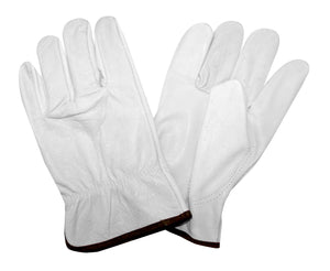 Standard Grain Goatskin Driver, Unlined, Shirred Elastic Back, Keystone Thumb