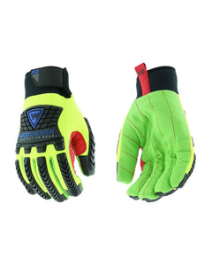 R2 Green Corded Palm Rigger Winter Glove