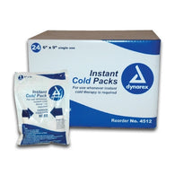 (24/Case) Dynarex Instant Disposable Ice Cold Packs 6