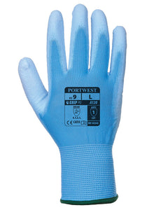 (12 Pairs) Blue Portwest Polyeurethane Palm Coated Gloves