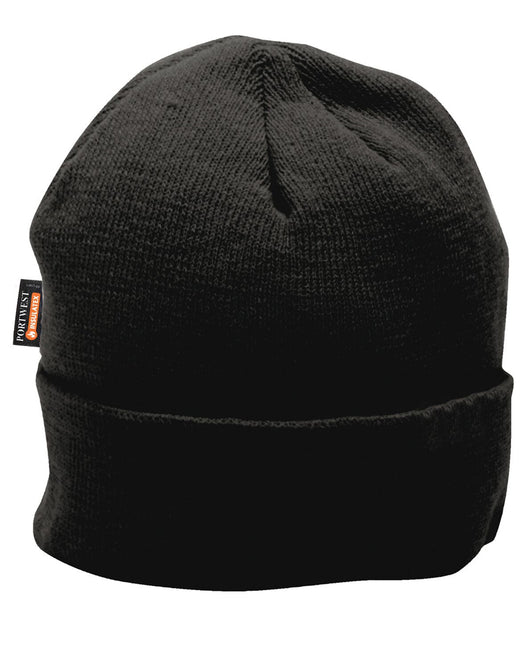 ( 5.00 each - 6 Case) Portwest Black Knit Hat Insulatex Lined. Beanie 85460bac5767