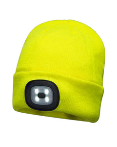 Portwest Rechargeable LED Head Light Winter Hat