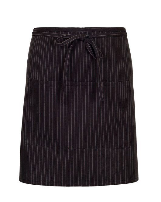 (6/Case) 2 Pocket Half Bistro Apron - Printed Twill