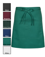 (6/Case) 2 Pocket Half Bistro Apron