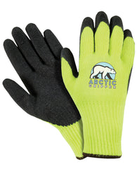 (12 Pairs) Artic Gripper Flourescent Green Palm Coated Winter Gloves