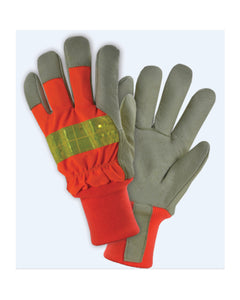 (12 Pairs) Hi-Viz Orange Insulated Premium Grain Pigskin Palm with Knit Wrist