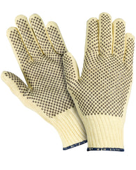 (12 Pairs) Para-aramid Cut Resistant Gloves with PVC Dots